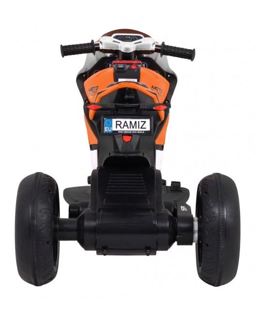 Elektrická motorka SUPER oranžová